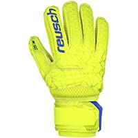 Reusch - Guanti da Portiere per Bambini Fit Control SG Extra Finger Support, Bambini, 3972830, Lime/Safety Yellow, 6