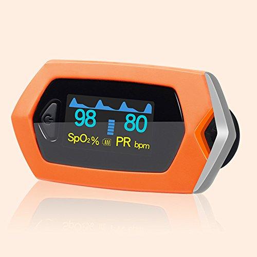 MUEN Fingertip-Pulsoximeter-Monitor-LED-Anzeige Blutzucker-Druck-Schlaf-Überwachung Eingebaute Lithium-Batterie -