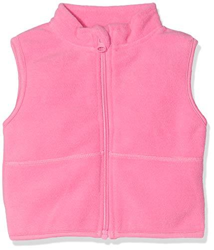 Schnizler Baby Fleece-Weste, ärmellose Unisex-Jacke für Mädchen und Jungen mit Reißverschluss und Kontrastnähten
