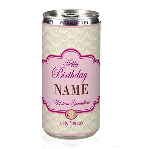 City Secco in der Dose zum Geburtstag mit Wunschname (weiß trocken) 200 ml