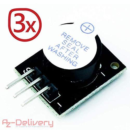 AZDelivery  3 x KY-012 aktives Piezo Buzzer Alarm Sensor Modul für Arduino