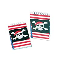 amscan International Favour Notebook-Pirate, Pack of 12