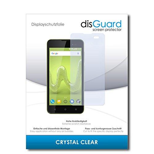 disGuard® Displayschutzfolie [Crystal Clear] kompatibel mit Wiko Sunny 2 Plus [4 Stück] Kristallklar, Transparent, Unsichtbar, Extrem Kratzfest, Anti-Fingerabdruck - Panzerglas Folie, Schutzfolie