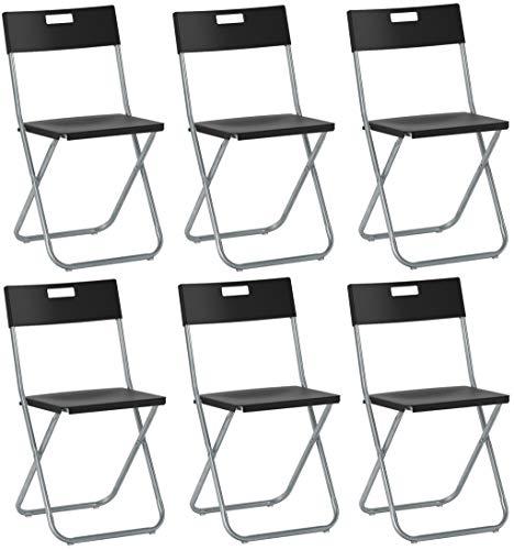 SAVINO FILIPPO SRL 6 Klappstuhl Schwarz IKEA Gunde aus Stahl und Metall für Sala Attesa Haus Haus Haus Haus Haus Haus Haus Haus Haus Haus Garten Garten Restaurant Restaurant Catering verschließbar