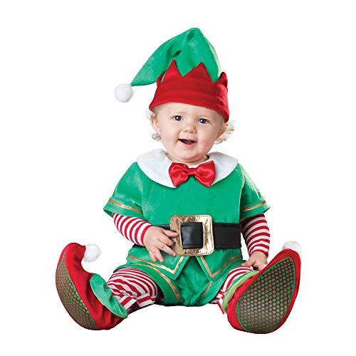(ASVP Shop®, Party-Kostüm für Weihnachten und Halloween, Baby, Jungs, Mädchen, Overall für Kleinkinder Gr. 12-18 Monate, Elf)