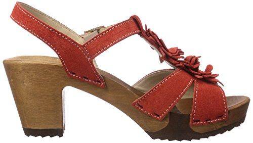 Woody - Sarah, Zoccoli da donna Rosso(Rot (Aurora))