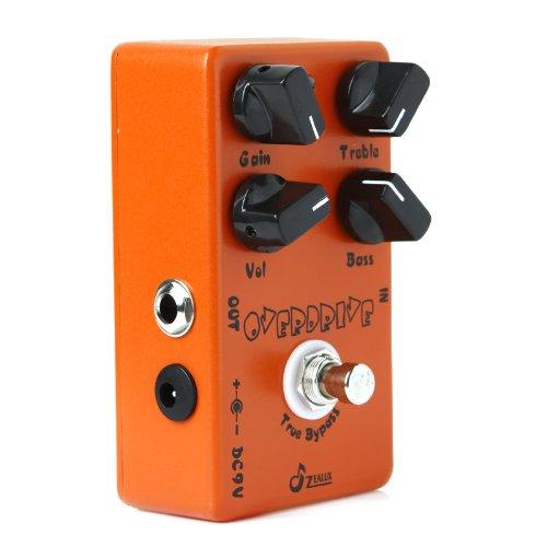 fitTek® Caline CP-18 Overdrive Pre-Amp Pedal für E-Gitarre Elektro Effektgerät Stereo Orange