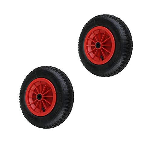 2 Stück 4.80/4.00-8, 400mm Schubkarrenräder Schubkarre Rad Wagen Räder Reifen (Reifen Wagen-räder Und)