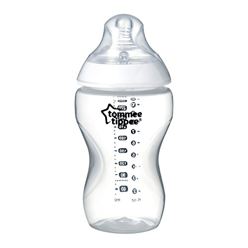 Tommee Tippee Closer to Nature Biberon Decorato, 340 ml, Trasparente