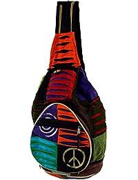 Guru-Shop - Bolso mochila  de algodón para mujer multicolor multicolor One size