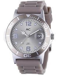 MC Timetrend sportliche Damen-Armbanduhr mit Kautschukband in Taupe, Analog Quarz 27174