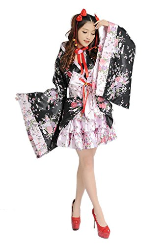 hqclothingbox Cosplay Lolita Halloween Fancy Dress Japanese Kimono Costume