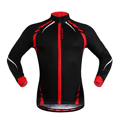 West Biking Fahrradjacke / Windjacke, Unisex, langärmelig, damen unisex Mädchen Herren Jungen, schwarz, Tag M(H:5'5
