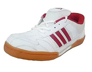 aadix Men's Non Marking Badminton Shoes (3UK/IND) Whte
