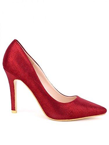 Cendriyon, Escarpin brillant bordeaux SEALIE Chaussures Femme Bordeaux