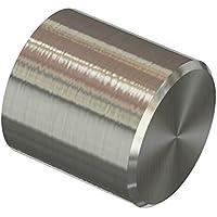 Flairdeco 11012031-0239 Endstücke Kappe für Gardinenstangen 20 mm Durchmesser, Edelstahl-Optik aus Metall , Packungsinhalt 2 Stück