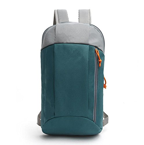 Xiuxiandianju 15L Falten im freien Freizeitsport frischen kleinen Rucksack Tasche Student Laptop-Tasche gray green