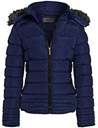 1fb6e1f62a SS7 New Women's Padded Hooded Coat, Camel, Navy, Sizes 8 to 16