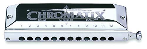 Suzuki Chromatix scx48a Mundharmonika 12Löcher Silberfarben mehrfarbig