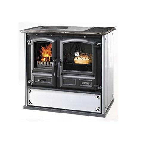 cucine a legna 'regina 631 steel' bianco puntinato