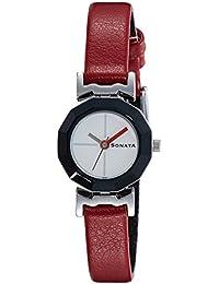 Sonata Analog Red Dial Women's Watch - NF8943SL01J