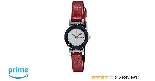 5822536b1 Buy Sonata Analog Red Dial Women's Watch -NH8943SL01C Online at Low ...