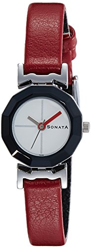 Sonata Analog Red Dial Women's Watch - NF8943SL01J image