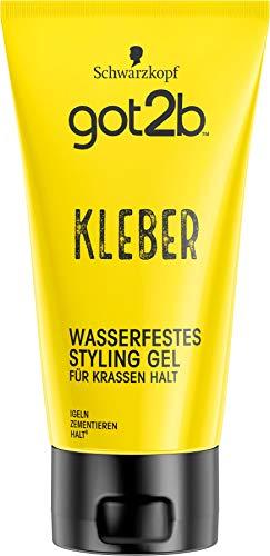 Schwarzkopf got2b Gel kleber wasserfestes Styling, 1er Pack (1 x 150 ml)