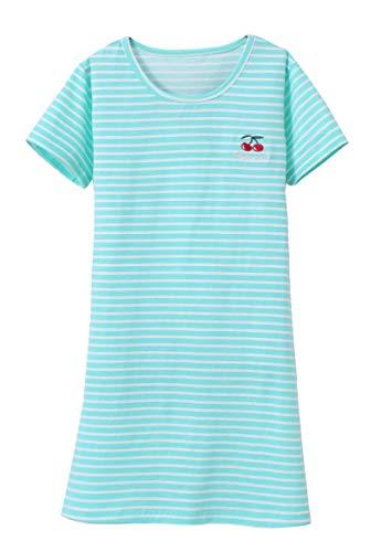 Big Girls Kurzarm Nachthemd Rundhalsausschnitt Cute Style 6yrs