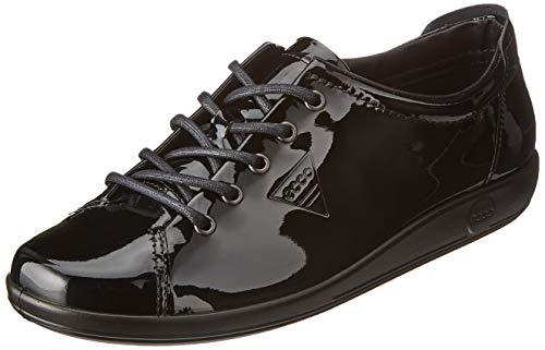 Ecco Damen Soft 2.0 Derbys, Schwarz (Black 11001), 40 EU