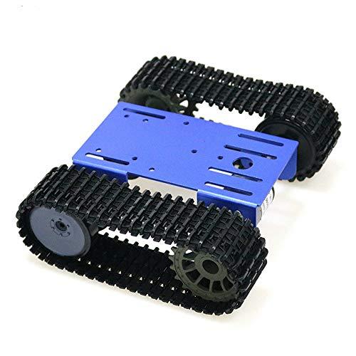 KKmoon Smart Roboter Model Car Kit, Tank Mobile Platform Panzer Mobile Plattform Roboter Spielzeug Plattform für Arduino (Raspberry Pi 2 Car Kit)