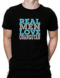 Teeburon real men love Orangutan T-Shirt