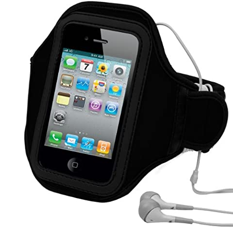 Vangoddy Universal Sport Armband Case Armband for Sportswear/Exercise/Fitness/Running black