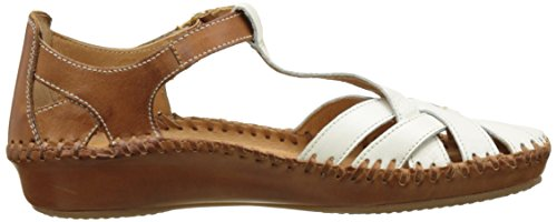 Pikolinos Damen P. Vallarta 655_v17 Geschlossene Sandalen mit Keilabsatz Weiß (NATA)