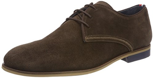 Tommy Hilfiger Casual Dressy Suede Lace Up, Derbys Homme