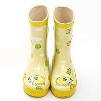 Unisex Kids,Classic welington Boots Rainy Season Rain Shoes Sheep PVC Yellow Rubber Kids Baby Cartoon Shoes Children
