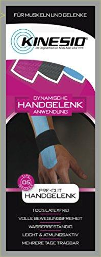 Kinesio® Kinesiology Tape - PreCut Handgelenk Blau - Schwarz