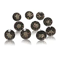 Be You Grey Natural Brazilian Smoky Quartz AAA Quality 2.75 mm Brilliant Cut Round 10 pcs Loose gemstone