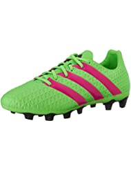 Adidas Performance As 16,4 fg / ag zapatos de fútbol, â??â??negro / shock rosa / verde de choque, 6