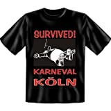 Fasching-kostüm - Survived - Karneval Köln T-Shirt - Größe XXL - in schwarz : )