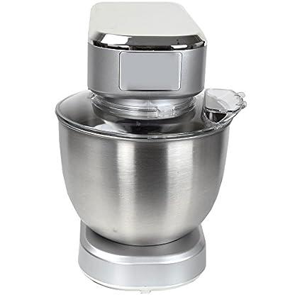 Syntrox-Germany-KM-1000W-Kchenmaschine-Knetmaschine-Mixer-Edelstahl-Behlter-5-Liter-silber