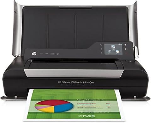HP Officejet 150 (CN550A) A4 Mobiler Multifunktionsdrucker (Drucker, Scanner, Kopierer, 4800 x 1200 dpi, USB, Bluetooth, SD-Karte) (Hp Laser Mobil)