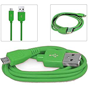 Green 1M Micro USB Data Sync / Charge Charger Charging Transfer Connectivity Adapter Cable Cord Lead Wire For  SONY XPERIA M2 D2306 Android Mobile Cellular Cell Phone