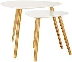 LOMOS® No.2 Set de tables basses blanc constitué de 2 tables en bois