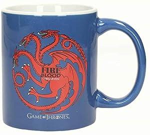 SD toys SDTHBO02065 - Game of Thrones, Targaryen, Taza de cerámica, Color Azul y Blanco (SDTHBO02065) - Taza Juego de Tronos Targaryen Fuego y Sangre Cerámica Azul