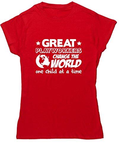 HippoWarehouse Damen T-Shirt Rot