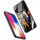 LiangChu 9h Le Verre trempé iphone 7/8 Cas, lc-50 Naruto vs Sasuke la Conception Anti - zéro Douce Impression antisismiques pour Apple Silicone TPU Couvrir téléphone iphone 7/8