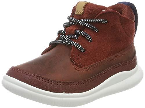 Clarks Cloud Air T, Zapatillas Altas para Niños, Marrón Burgundy Leather Burgundy Leather, 21 EU