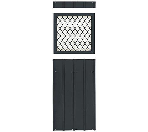 Globel Industries Metallgerätehaus Fenstereinsatz mit Gitter // Farbe: Anthrazit // passend für alle Modelle