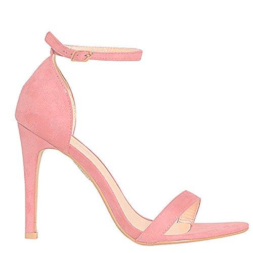 Shoesdays , Sandales pour femme noir noir 35.5 Pink Blush Suede
